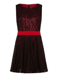 Mela Loves London Lace Contrast Prom Dress