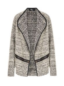 Mela Loves London Textured Zip Detail Jacket