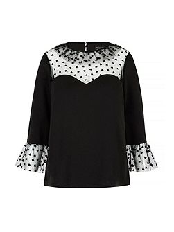 Heart Print Sweetheart Tunic Top