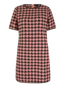 Mela Loves London Houndstooth Print Shift Dress