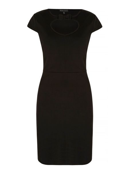 Mela London Keyhole Detail Bow Fitted Dress
