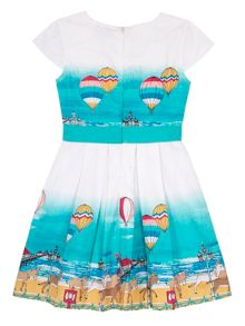 Uttam Girls Seaside Border Print Dress