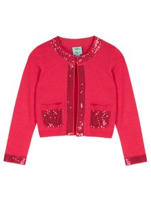 Uttam Girls Sequin Embellished Cardigan
