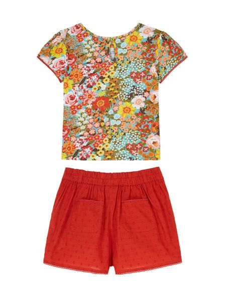 Uttam Girls 70s Floral T-Shirt and Shorts