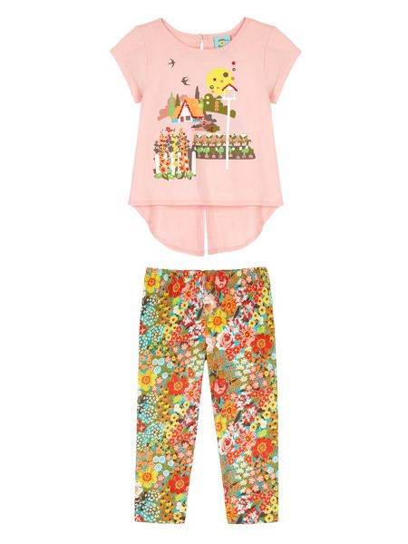 Uttam Girls 70s Floral T-Shirt and Leggings