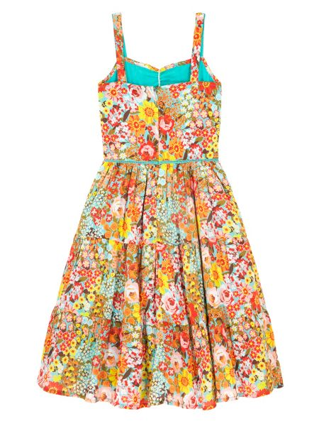 Uttam Girls 70s Floral Print Sundress