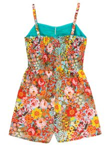 Uttam Girls 70s Floral Print Playsuit