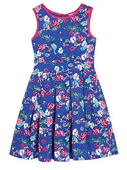 Girls Peacock Print Day Dress