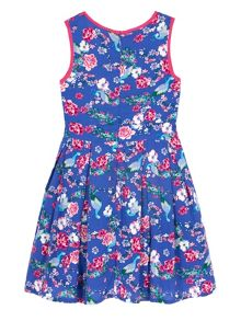Uttam Girls Peacock Print Day Dress