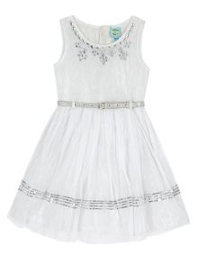 Uttam Girls Embellished Party Dress