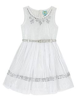 Girls Embellished Party Dress