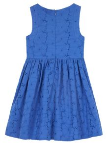 Uttam Girls Broderie Anglaise Bow Front Dress