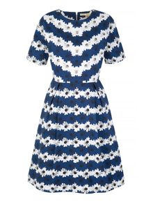 Uttam Boutique Daisy Stripe Print Day Dress