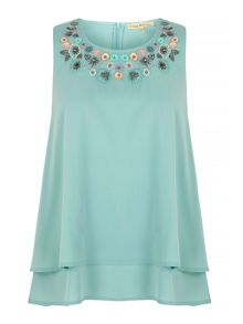 Uttam Boutique Embellished Swing Top