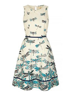 Dragonfly Print Day Dress