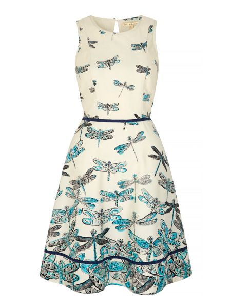 Uttam Boutique Dragonfly Print Day Dress