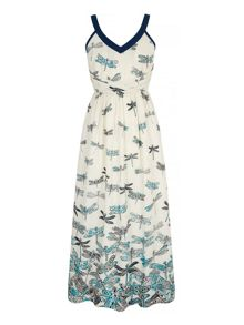 Uttam Boutique Dragonfly Print Maxi Dress
