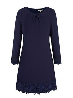 Long Sleeve Lace Shift Dress