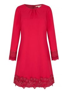 Uttam Boutique Long Sleeve Lace Shift Dress