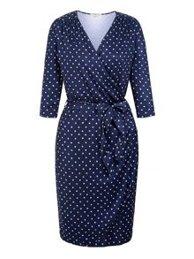 Uttam Boutique Daisy Print Long Sleeve Wrap Dress