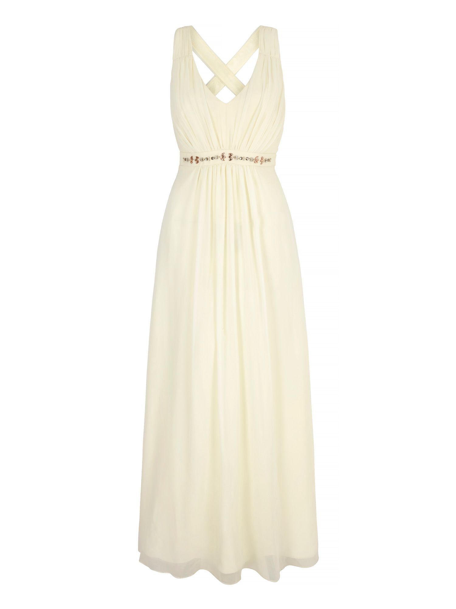 Uttam Boutique Embellished Maxi Dress, Cream