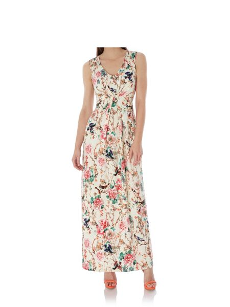 Uttam Boutique Eastern Floral Print Maxi Dress
