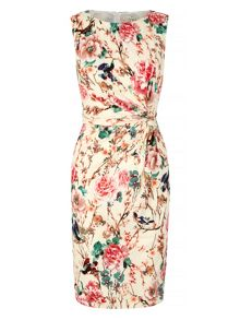 Uttam Boutique Eastern Floral Print Party Dress