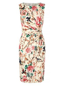 Eastern Floral Print Party Dress