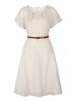 Lace Peasant Day Dress with belt included