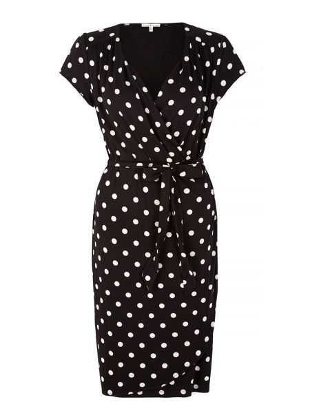 Uttam Boutique Polka Dot Print Wrap Dress