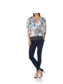 Uttam Boutique Cherry Blossom Print Butterfly Top