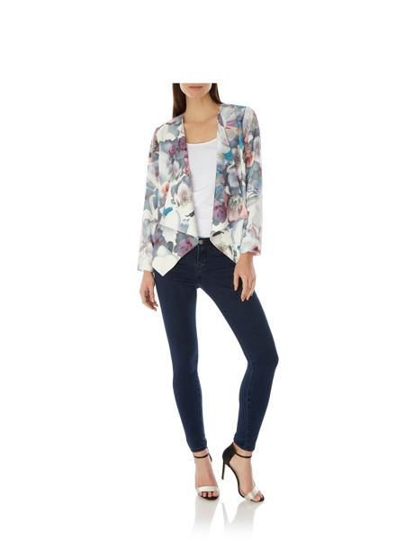 Uttam Boutique Cherry Blossom Print Waterfall Jacket