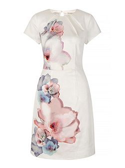 Cherry Blossom Print Party Dress