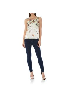Uttam Boutique Floral Print Vest Top
