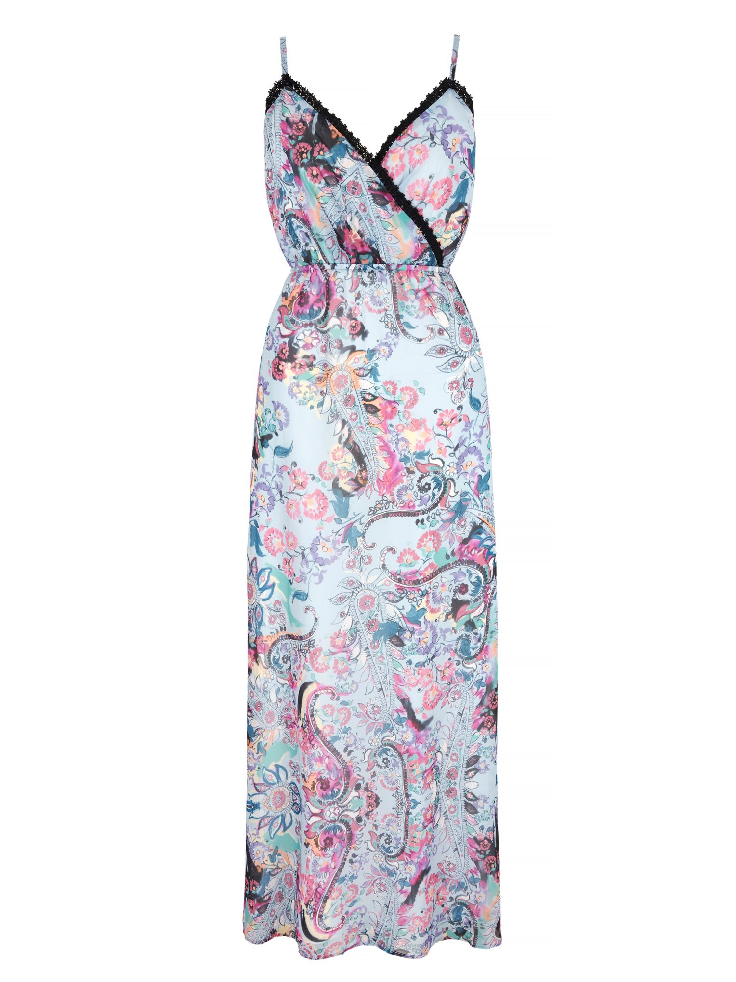 Uttam Boutique Paisley Print Strappy Maxi Dress, Blue