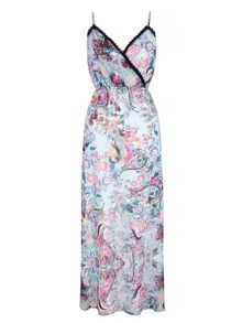 Uttam Boutique Paisley Print Strappy Maxi Dress