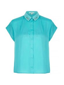 Uttam Boutique Embellished Collar Shirt