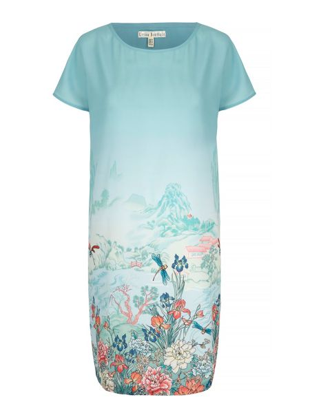 Uttam Boutique Oriental Print Tunic Dress