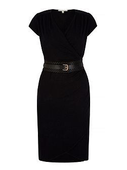 Obi Belted Wrap Dress with belt included
