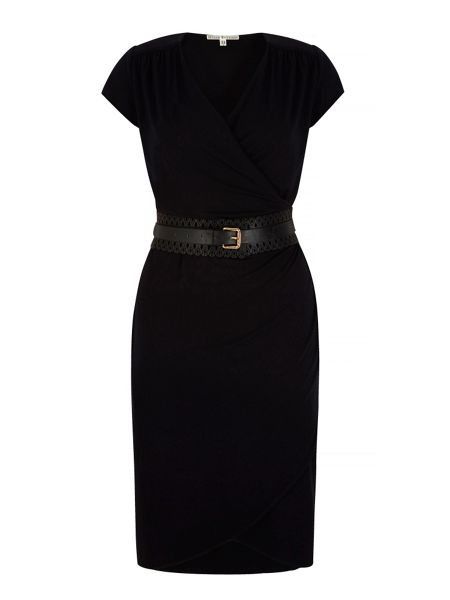 Uttam Boutique Obi Belted Wrap Dress with belt included