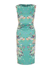 Uttam Boutique Mirrored Floral Print Dress