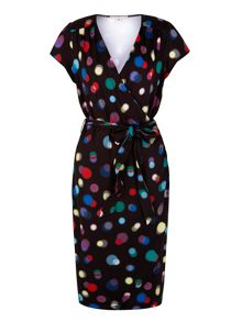 Uttam Boutique Bokeh Print Wrap Dress
