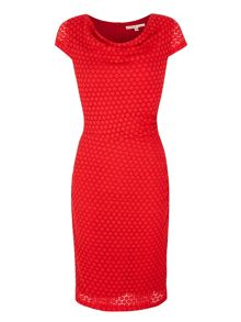 Uttam Boutique Spotty Lace Cowl Neck Dress