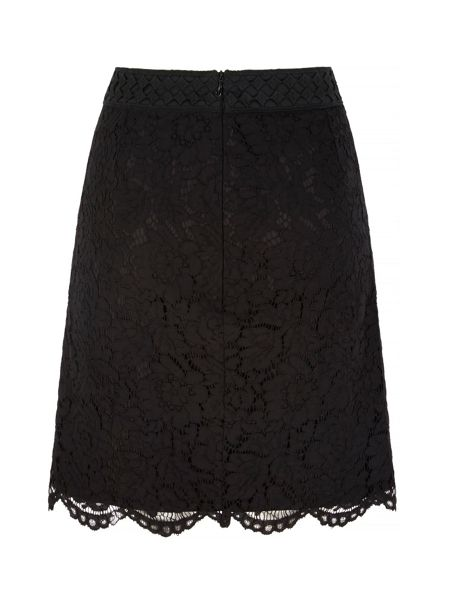 Uttam Boutique Mixed Lace Skirt