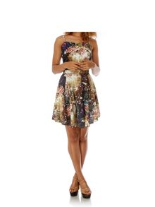 Floral Print Day Dress with belt