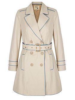 Contrast Trench Coat