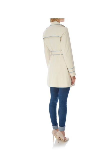 Yumi Contrast Trench Coat