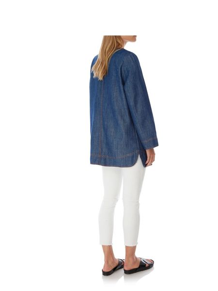 Yumi Denim Casual Coat