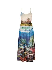 Yumi Underwater Print Maxi Dress
