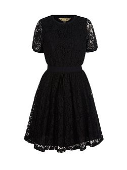 Stretchy Lace Skater Dress